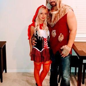 Ravishing red riding hood costume